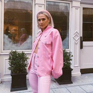 Pink embellished jacket